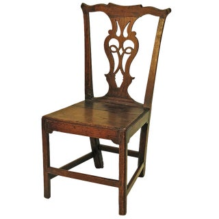 Late 18th Century Country English Side Chair For Sale