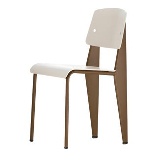 Jean Prouvé Standard Chair SP in Warm Gray and Coffee for Vitra For Sale