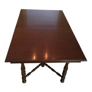 Antique Mahogony Jefferson Woodworking Co. Extension Dining Table For Sale