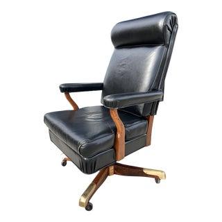 "Mid-Century Modern Gunlocke Model ""Washington"" John F. Kennedy Oval Office Chair For Sale"