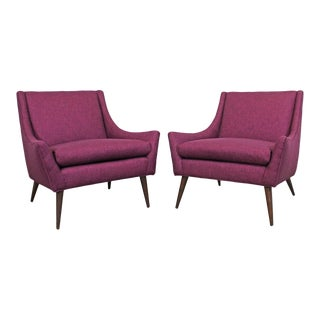 Pair of Mid-Century Modern Paul McCobb Style Lounge Chairs For Sale