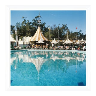 """Slim Aarons, """"Poolside Reflections,"""" January 1, 1957 Getty Images Gallery Framed Art Print For Sale"""