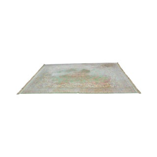 "Karastan Soft Green Kirman 8'7"" X 12'9"" Room Size Rug For Sale"