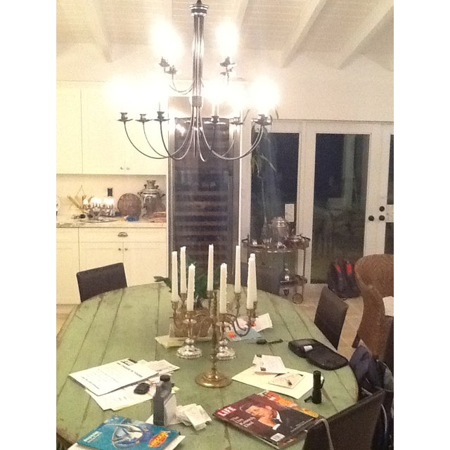 Vintage Farmhouse Dining Table For Sale In Miami - Image 6 of 10