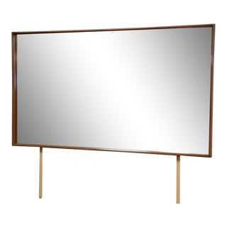 t.h. Robsjohn-Gibbings for Widdicomb Walnut Mirror For Sale