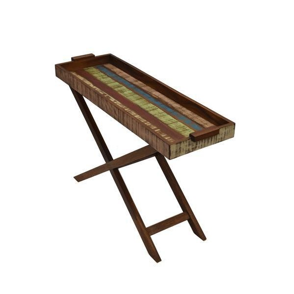 Wood Reclaimed Wood Tray Table For Sale - Image 7 of 8