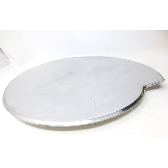 """Here's a Nambe Spiral tray or platter model 632. Designed by Smith Celetano and made in 1995. Measures 13-1/2"""" diameter at..."""