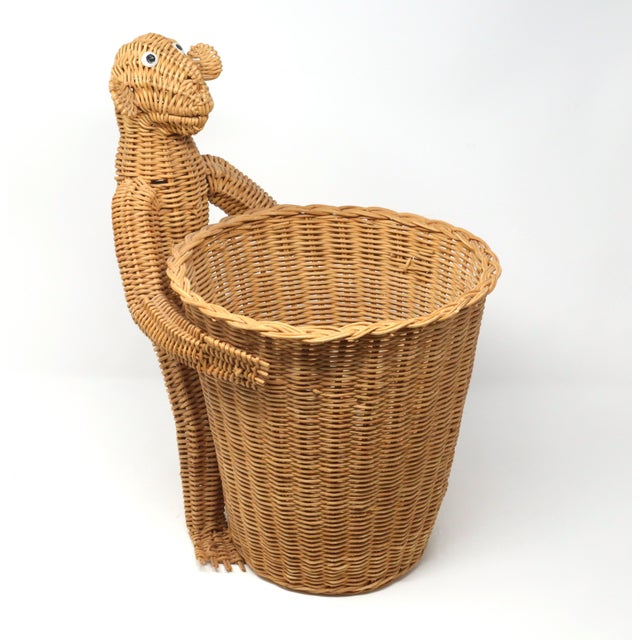Mario Lopez Torres Monkey Waste Basket or Trash Can For Sale In Tampa - Image 6 of 9