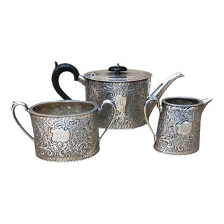 1870 Superb Quality Victorian Silver Plated English Tea Set For Sale