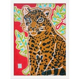 """Image of Small """"Red Jaguar"""" Print by Jelly Chen, 15"""" X 20"""" For Sale"""