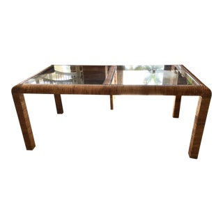 1960s Bielecky Brothers Rattan Dining Table For Sale
