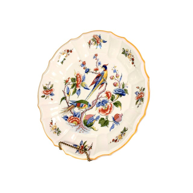 """This is an 11.75"""" Villeroy & Boch plate in pattern #1570. Markings on the underside date it to between 1870-1890 from the..."""