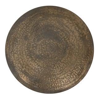 Circular Ceramic Wall Sculpture #4 with Dappled Bronze Glaze by Sandi Fellman For Sale
