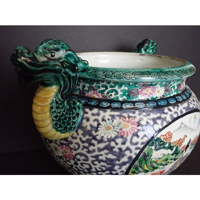 Late 19th Century Japanese Porcelain Vase With Dragon Handles For Sale - Image 5 of 12