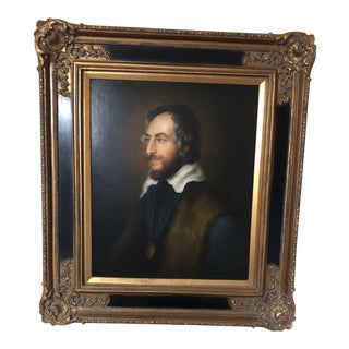 Federal Style Wooden Framed Oil Painting For Sale