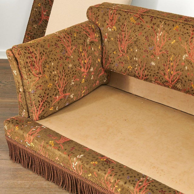 1950s Maison Jansen Sofa With Original Jacquard Tapestry Upholstery For Sale In New York - Image 6 of 7