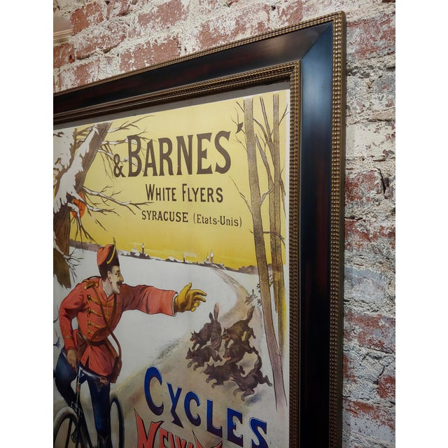 19th Century Gaston Fanty-Lescure Rare 1896 French Bicycle Poster For Sale - Image 5 of 9