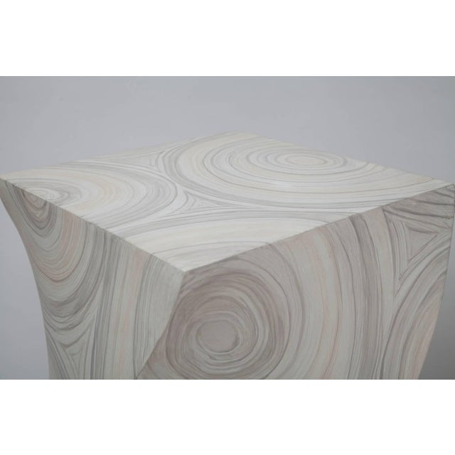 1970s Helix Twisted Fau Painted Agate Pedestals - a Pair For Sale In Miami - Image 6 of 11