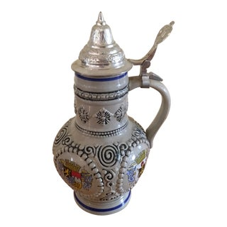 King Lidded Beer Stein
