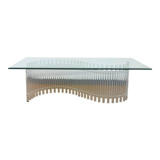 Contemporary Vintage Lucite Coffee Table For Sale