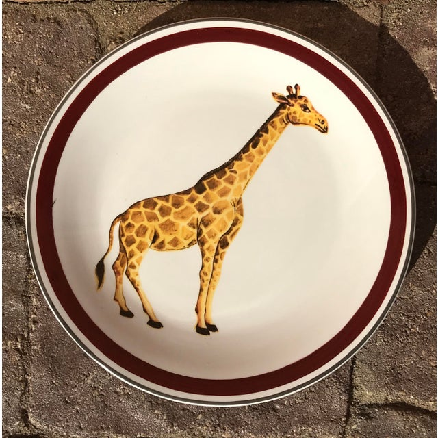 Mottahedeh Mottahedeh Italian Ceramic Leopard and Giraffe Plates - Set of 2 For Sale - Image 4 of 10