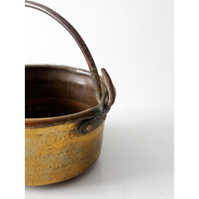 Antique Brass Plated Copper Pot - Image 3 of 8