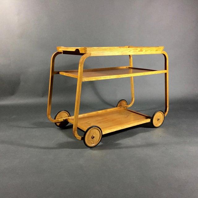 1940s 1940s Birch Bar Cart by Reimers Möbler , Mjölby Sweden For Sale - Image 5 of 9