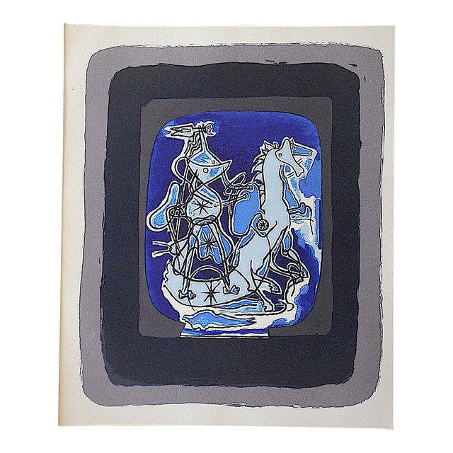 Mid 20th C. Modern Equine Lithograph - Georges Braque - Image 1 of 3