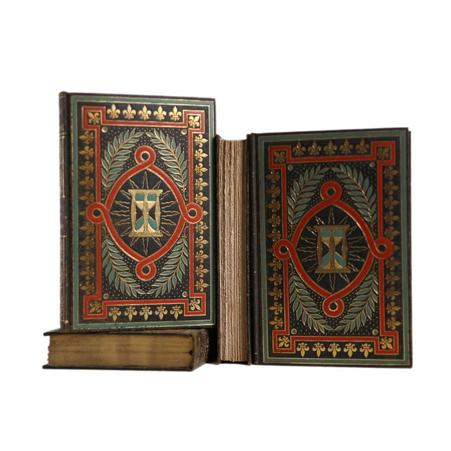 Traditional Vintage Voltaire Gilted History Gift Set, S/4 For Sale - Image 3 of 3
