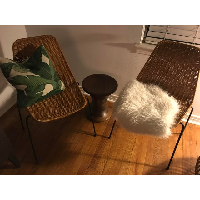 1960s Vintage Campo Graffi Wicker Armless Chairs - A Pair - Image 3 of 8