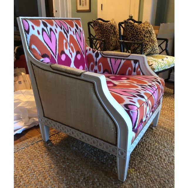 Oly Studio Ikat Upholstered Oly Studio Tobias Chair For Sale - Image 4 of 9