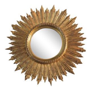 French Antique Sunburst Mirror