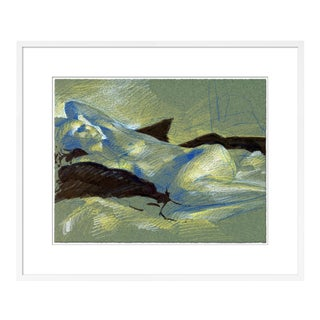 Figure 6 by David Orrin Smith in White Frame, Small Art Print For Sale