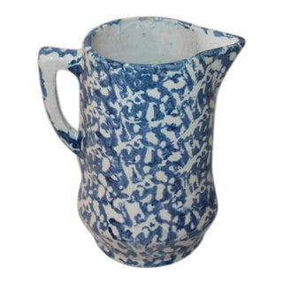 19th Century Sponge Ware Pitcher from Pennsylvania For Sale