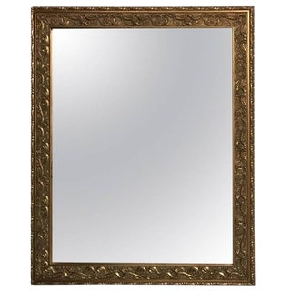 Giltwood Mirror with Beautiful Scroll Work For Sale