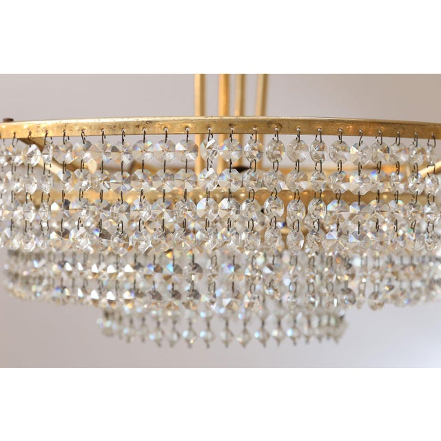 Brass Bakalowits Three-Tier Flush Mount Light For Sale - Image 7 of 9