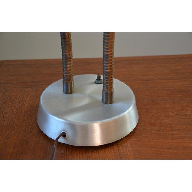 Mid-Century Double Gooseneck Desk Lamp For Sale - Image 5 of 10