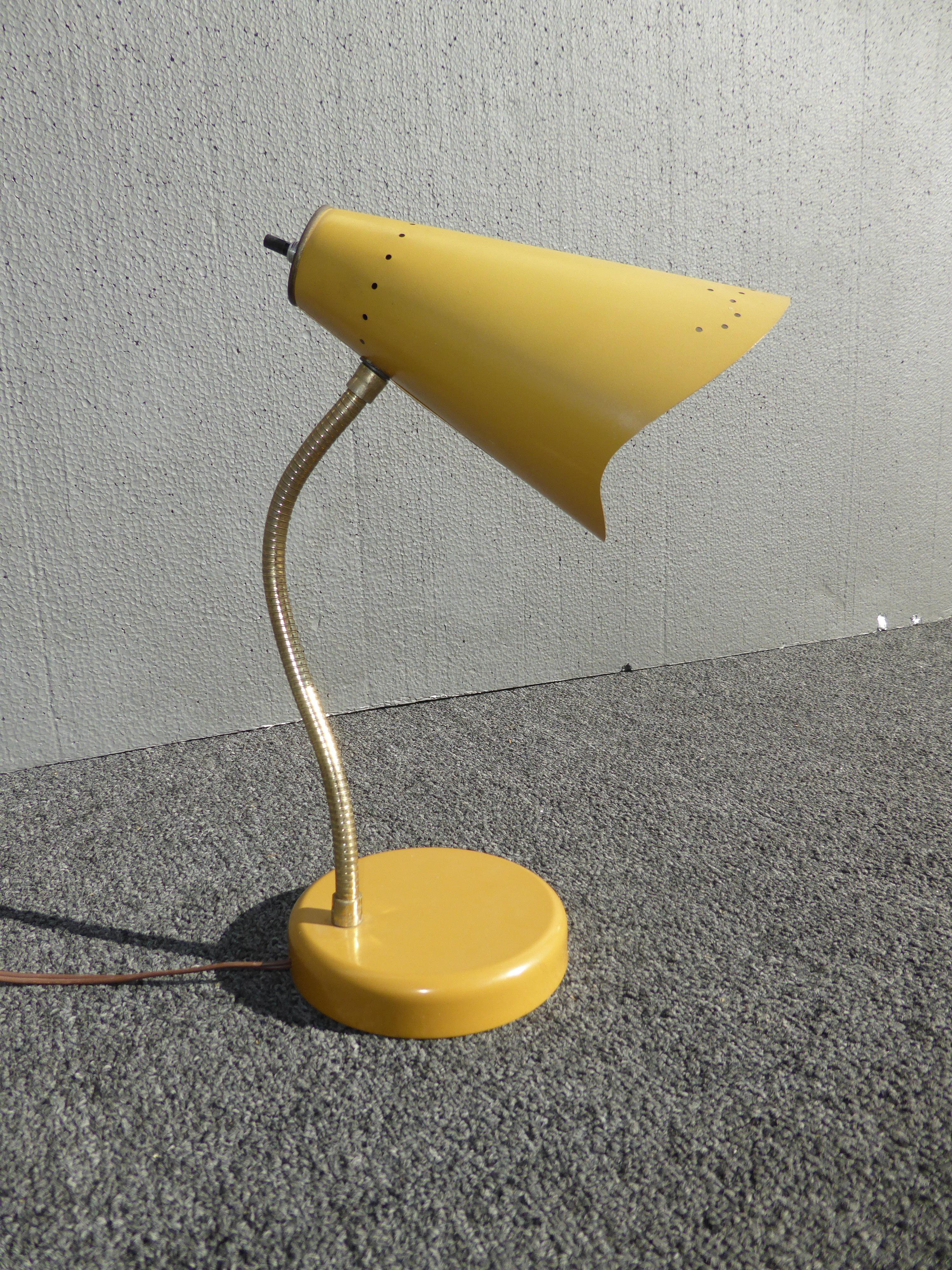 Mid Century Modern Yellow Adjustable Table Lamp   Image 2 Of 10