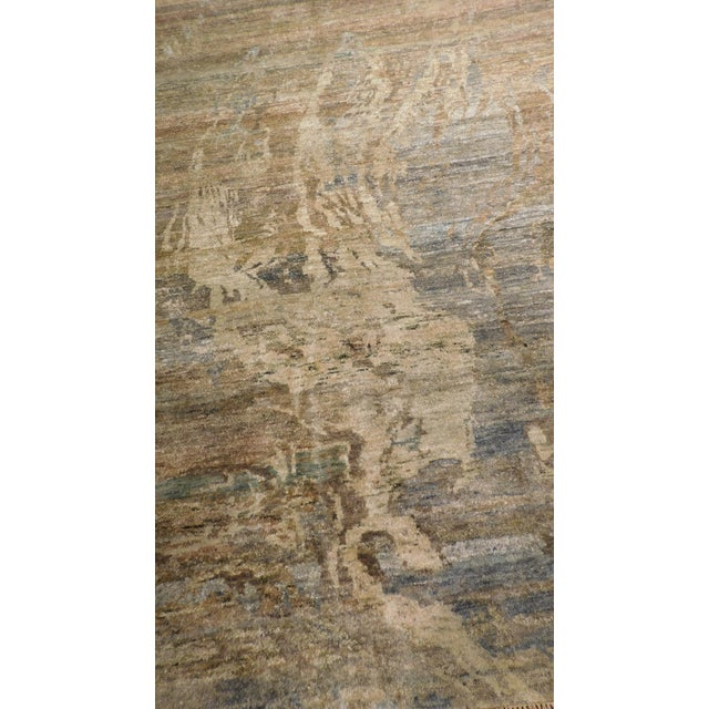 "Abstract Hand-Knotted Rug - 8′ × 9′11"" - Image 4 of 10"