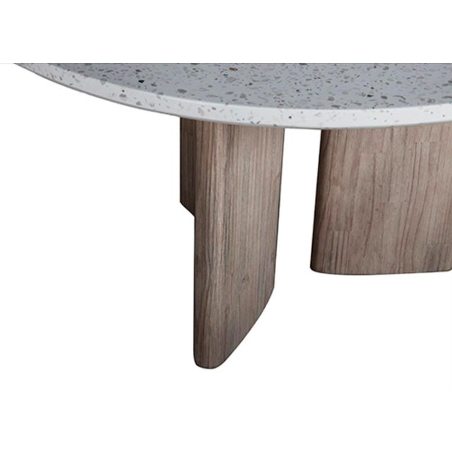 Contemporary Modern Terrazzo Round Dining Table For Sale - Image 3 of 4