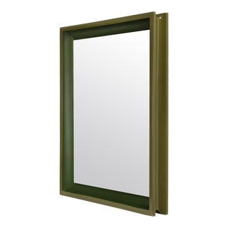 Large Rectangular Floating Mirror in Light Olive / Dark Olive - Jeffrey Bilhuber for The Lacquer Company For Sale