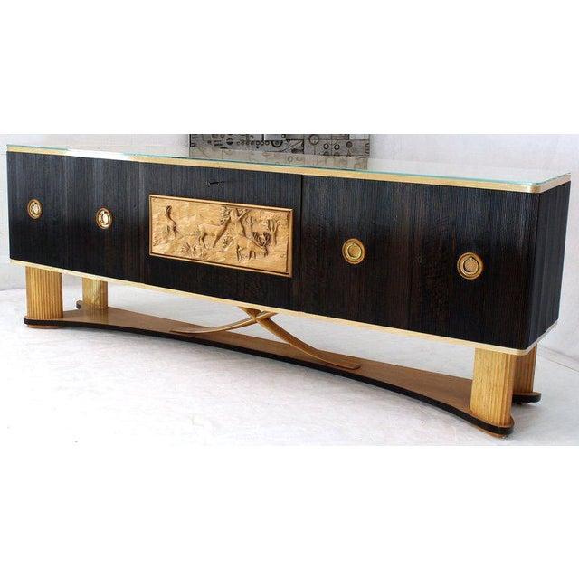 Birch 1940s Mid-Century Modern Osvaldo Borsani Extra Long Sideboard For Sale - Image 7 of 14