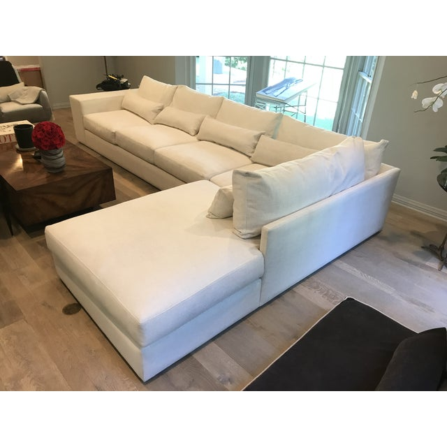 White L-Shaped Sectional Sofa For Sale - Image 11 of 13