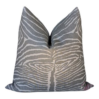 Le Zebre by Brunschwig & Fils Pillow Cover in Grey For Sale