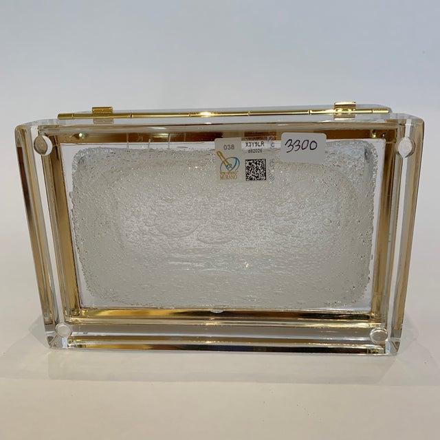 White 21st Century White Murano Crystal Jewel Box by Mandruzzato For Sale - Image 8 of 9