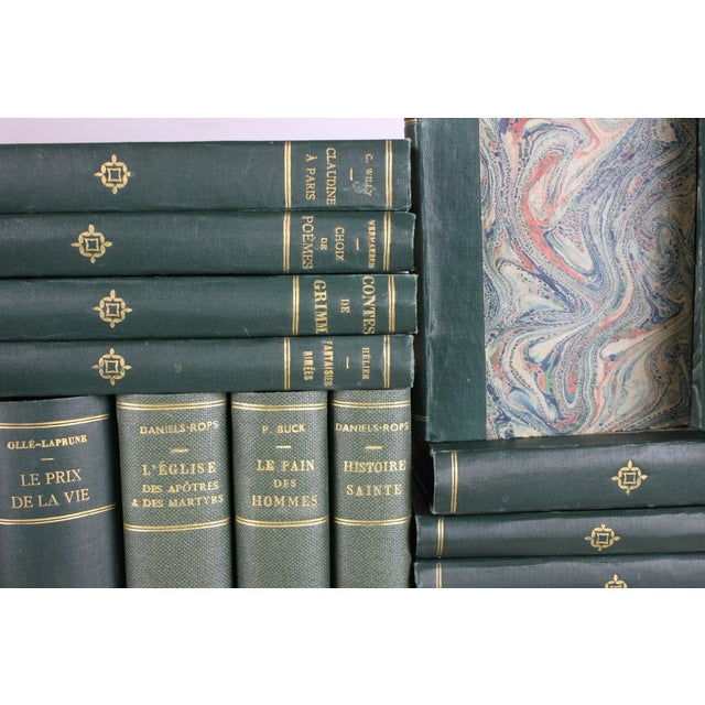 French Designer Books in Greens - Set of 38 - Image 3 of 3