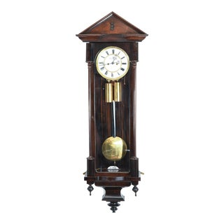 Mahogany Frame Vienna Regulator Wall Clock For Sale