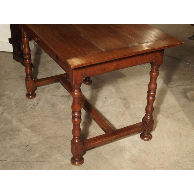 Antique Cherry and Walnut Wood Side Table, 18th Century For Sale In Dallas - Image 6 of 12
