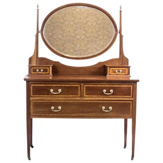 19th Century English Vanity Table with the Signature of Maple & Co. For Sale