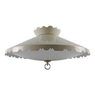 Vintage Saucer Ceiling Light Pendant Chandelier Atomic For Sale